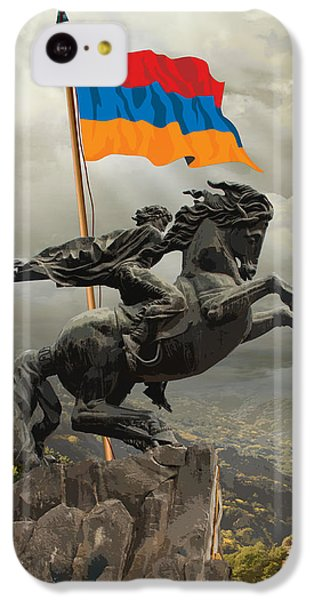 Folk Art iPhone 5c Case - David Of Sassoun by Peter Awax