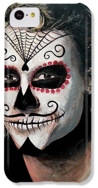 Day Of The Dead - Heath Ledger IPhone 5c Case by Tom Carlton