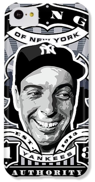 Dcla Joe Dimaggio Kings Of New York Stamp Artwork IPhone 5c Case by David Cook Los Angeles