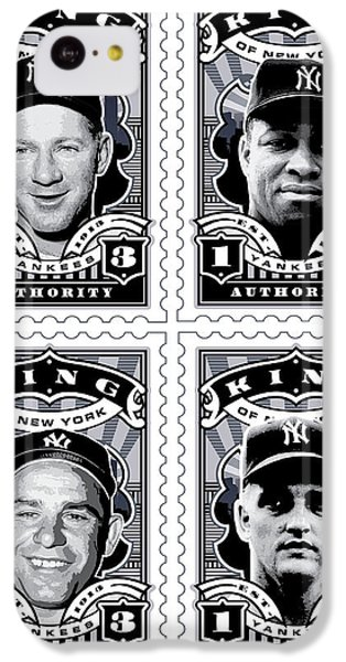 Dcla Kings Of New York Combo Stamp Artwork 2 IPhone 5c Case by David Cook Los Angeles