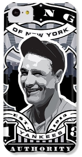 Dcla Lou Gehrig Kings Of New York Stamp Artwork IPhone 5c Case by David Cook Los Angeles
