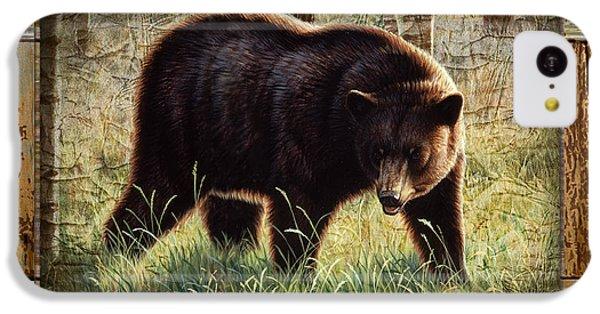 Bear iPhone 5c Case - Deco Black Bear by JQ Licensing