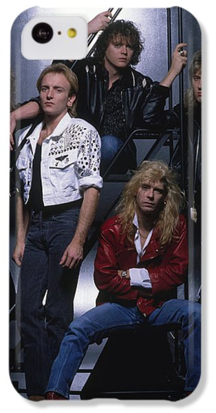 Def Leppard - Group Stairs 1987 IPhone 5c Case by Epic Rights