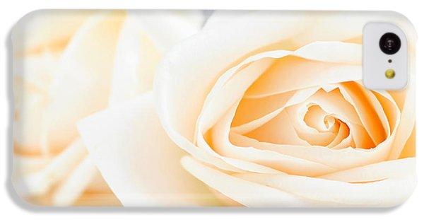 Rose iPhone 5c Case - Delicate Beige Roses by Elena Elisseeva