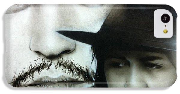 Johnny Depp - ' Depp ' IPhone 5c Case by Christian Chapman Art