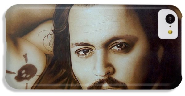 Johnny Depp - ' Depp II ' IPhone 5c Case by Christian Chapman Art