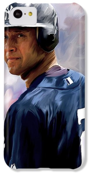 Derek Jeter  IPhone 5c Case by Iconic Images Art Gallery David Pucciarelli