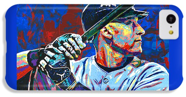 Derek Jeter IPhone 5c Case by Maria Arango