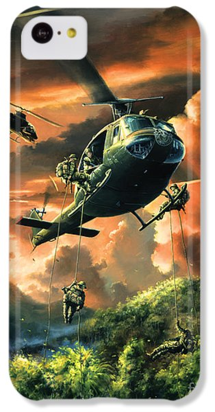 Helicopter iPhone 5c Case - Descent Into The A Shau Valley by Randy Green