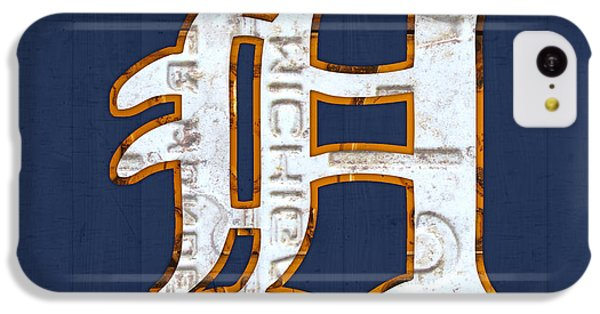 Detroit Tigers Baseball Old English D Logo License Plate Art IPhone 5c Case by Design Turnpike