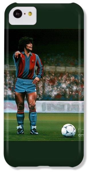 Diego Maradona IPhone 5c Case by Paul Meijering