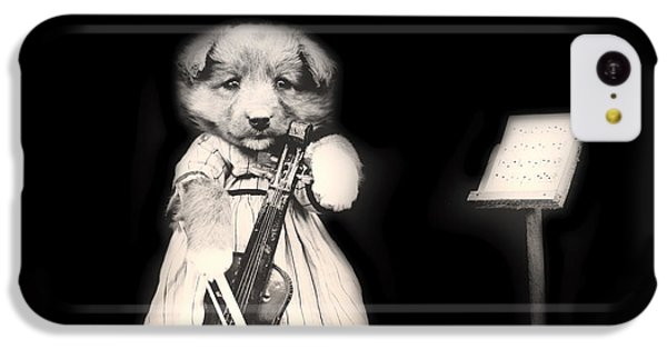 Violin iPhone 5c Case - Dog Serenade by Mountain Dreams