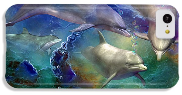 Dolphin Dream IPhone 5c Case by Carol Cavalaris