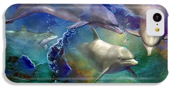 Dolphin Dream IPhone 5c Case by Carol Cavalaris