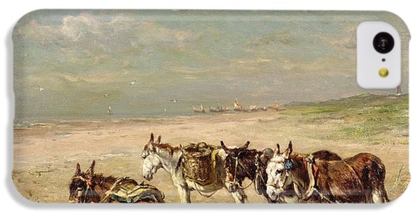 Donkeys On The Beach IPhone 5c Case by Johannes Hubertus Leonardus de Haas