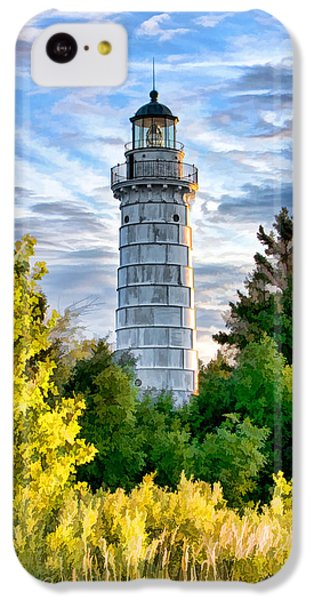 Door County Cana Island Beacon IPhone 5c Case by Christopher Arndt