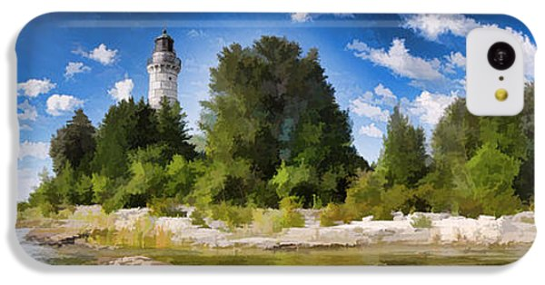 Door County Cana Island Lighthouse Panorama IPhone 5c Case by Christopher Arndt
