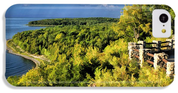Door County Peninsula State Park Svens Bluff Overlook IPhone 5c Case by Christopher Arndt