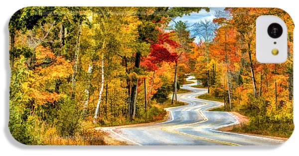 Door County Road To Northport In Autumn IPhone 5c Case by Christopher Arndt