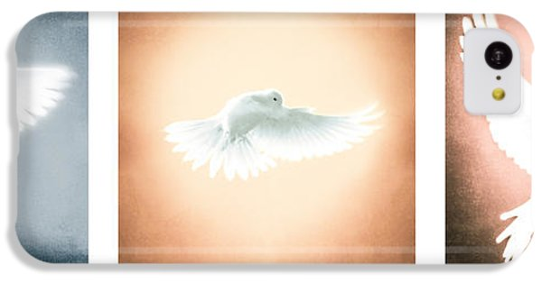 Dove In Flight Triptych IPhone 5c Case by YoPedro