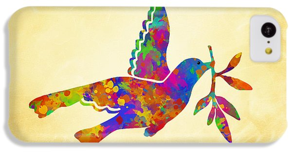 Dove With Olive Branch IPhone 5c Case by Christina Rollo