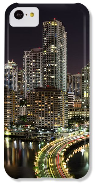 Downtown Miami From Brickell Key IPhone 5c Case