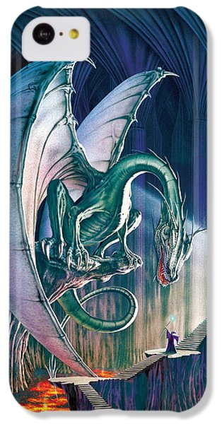 Dragon iPhone 5c Case - Dragon Lair With Stairs by The Dragon Chronicles - Robin Ko