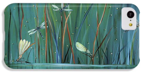Impressionism iPhone 5c Case - Dragonfly Diner by Carol Sweetwood
