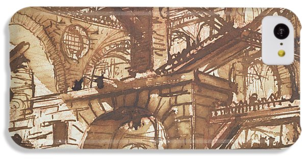 Dungeon iPhone 5c Case - Drawing Of An Imaginary Prison by Giovanni Battista Piranesi