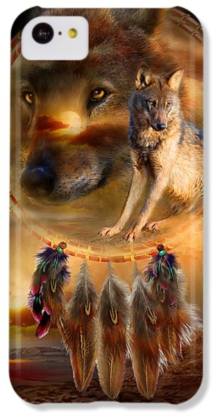 Wolves iPhone 5c Case - Dream Catcher - Wolfland by Carol Cavalaris