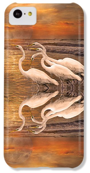 Dreaming Of Egrets By The Sea Reflection IPhone 5c Case by Betsy Knapp