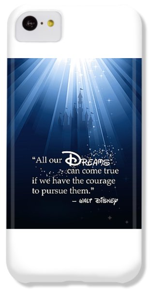 Mouse iPhone 5c Case - Dreams Can Come True by Nancy Ingersoll