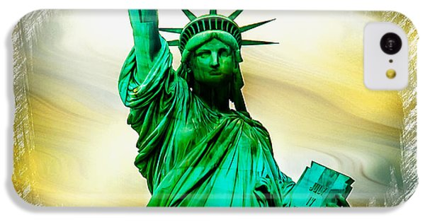 Statue Of Liberty iPhone 5c Case - Dreams Of Liberation by Az Jackson