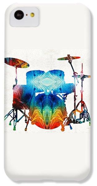 Drum iPhone 5c Case - Drum Set Art - Color Fusion Drums - By Sharon Cummings by Sharon Cummings