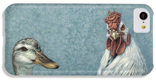 Chicken iPhone 5c Case - Duck Chicken by James W Johnson