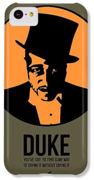 Duke iPhone 5c Case - Dude Poster 3 by Naxart Studio