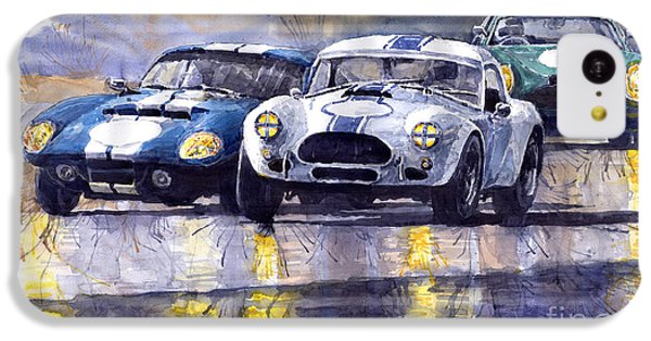 Duel Ac Cobra And Shelby Daytona Coupe 1965 IPhone 5c Case by Yuriy  Shevchuk