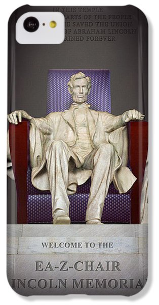 Ea-z-chair Lincoln Memorial 2 IPhone 5c Case by Mike McGlothlen
