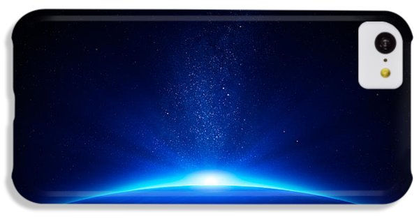 Earth Sunrise In Space IPhone 5c Case by Johan Swanepoel