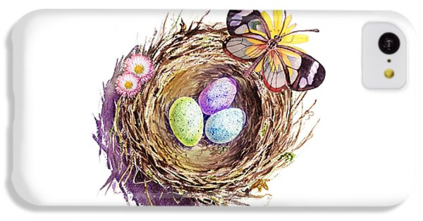 Easter Colors Bird Nest IPhone 5c Case by Irina Sztukowski