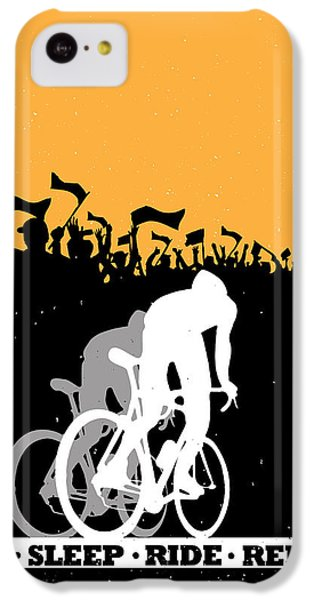 T Shirts iPhone 5c Case - Eat Sleep Ride Repeat by Sassan Filsoof