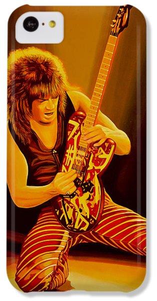 Eddie Van Halen Painting IPhone 5c Case by Paul Meijering