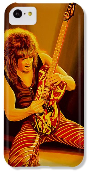 Eddie Van Halen Painting IPhone 5c Case by Paul Meijering