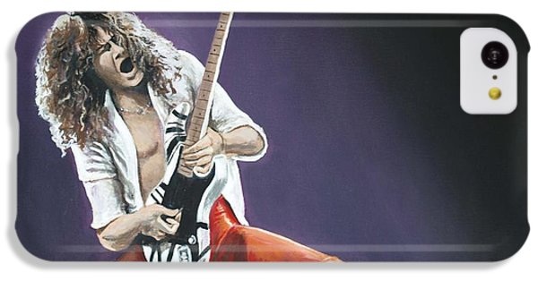 Eddie Van Halen IPhone 5c Case by Tom Carlton