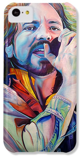 Eddie Vedder In Pink And Blue IPhone 5c Case by Joshua Morton