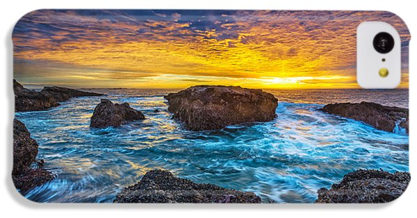 Ocean Sunset iPhone 5c Case - Edge Of North America by Robert Bynum