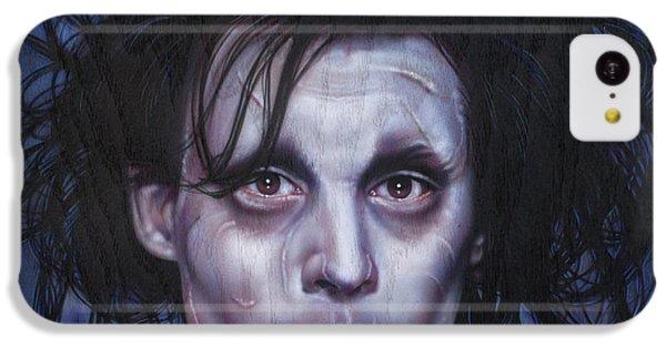Edward Scissorhands IPhone 5c Case by Timothy Scoggins