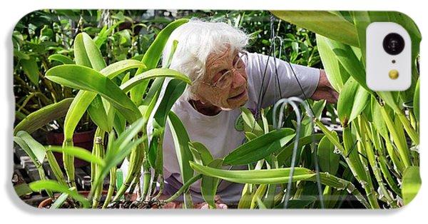 Elderly Woman Examining Plants IPhone 5c Case