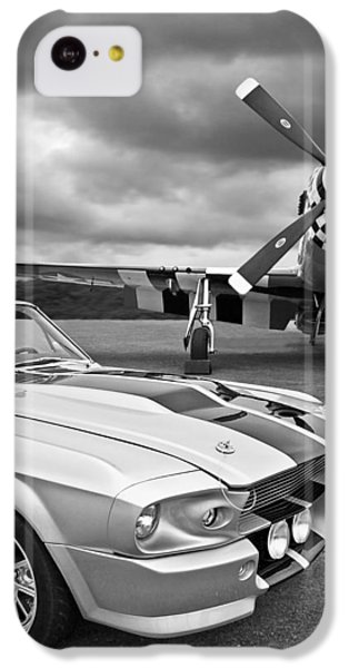 Eleanor Mustang With P51 Black And White IPhone 5c Case by Gill Billington