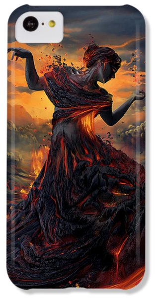 Fantasy iPhone 5c Case - Elements - Fire by Cassiopeia Art